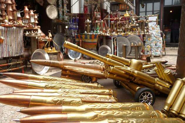 Bullet-shell souvenirs in Saigon Tour