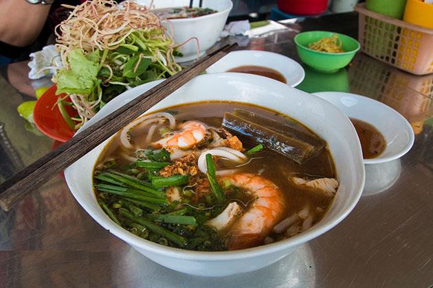 Try Bun Mam in Ben Thanh Market