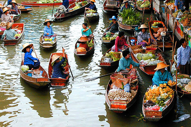 Cai Be Floating Market Mekong Delta Attractions