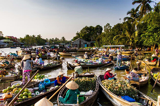 Cai Be Floating Market South Vietnam Tour