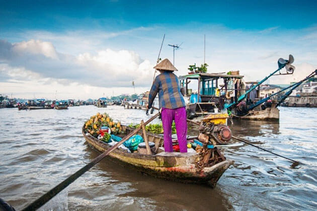Chau Doc Floating Market Mekong Delta Tour