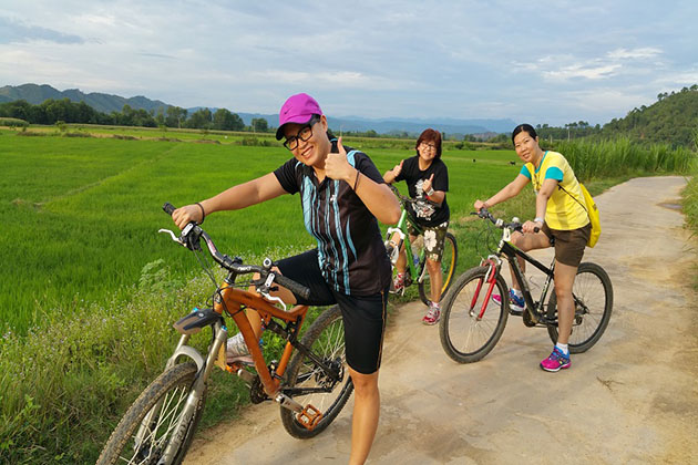 Cycling Around Nam Cat Tien Village