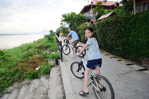 Cycling in rural area Mekong Delta Tour