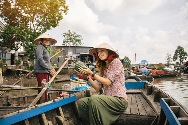 Experience Floating Market in Mekong Delta