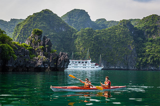 Explore Halong Bay by Kayaking vietnam tour packages from ho chi minh city