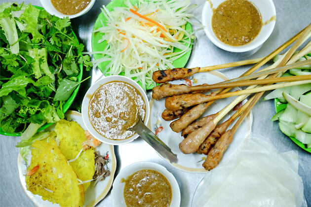 Food in Danang Central Vietnam