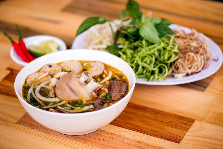 Hue rice vermicelli with beef in ho chi minh city