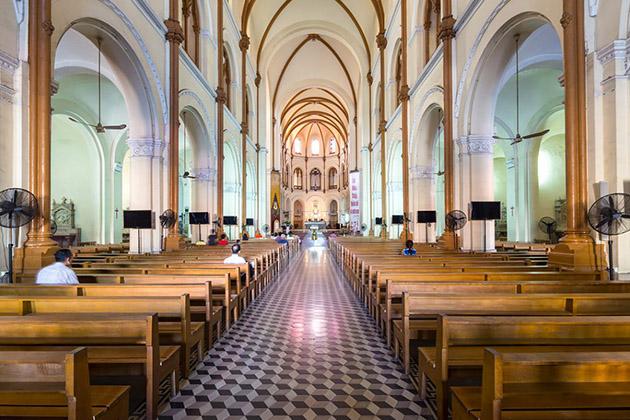 Inside Saigon Notre Dame Cathedral