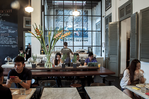 L'Usine Coffee Shop in Saigon