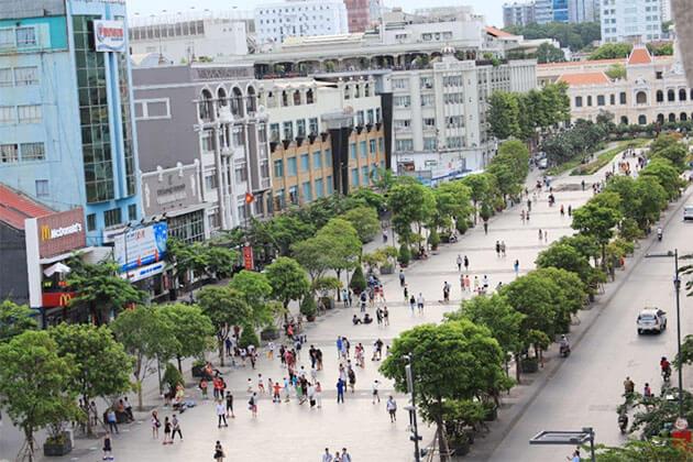 Nguyen Hue Walking Street in District 1 Saigon