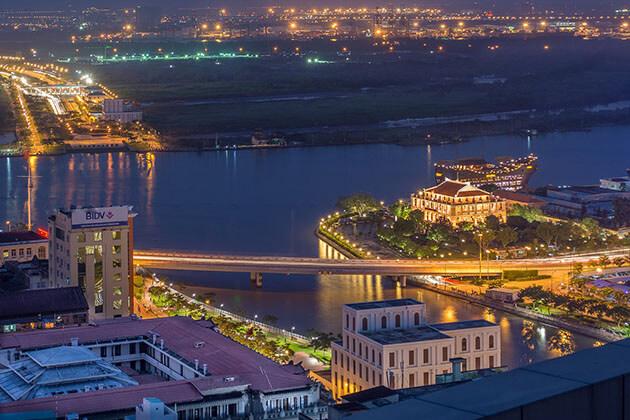 Nha Rong Harbor at Night