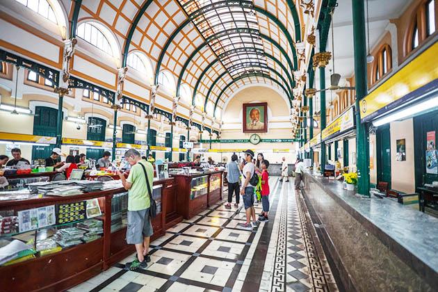 Inside Saigon Old Post Office