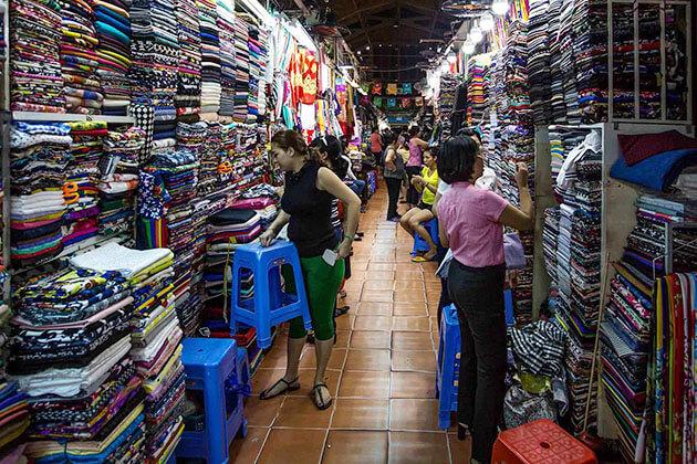 Inside Tan Dinh Market
