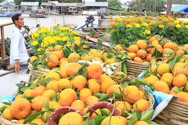 Taste Fresh Fruits in Mekong Floating Market
