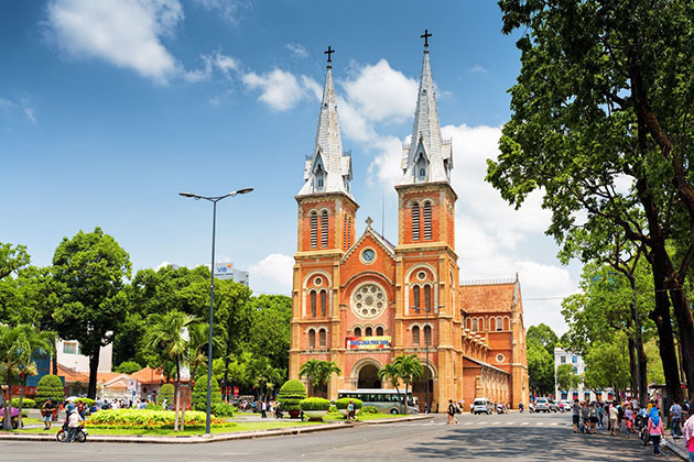 The Notre Dame Cathedral in Saigon