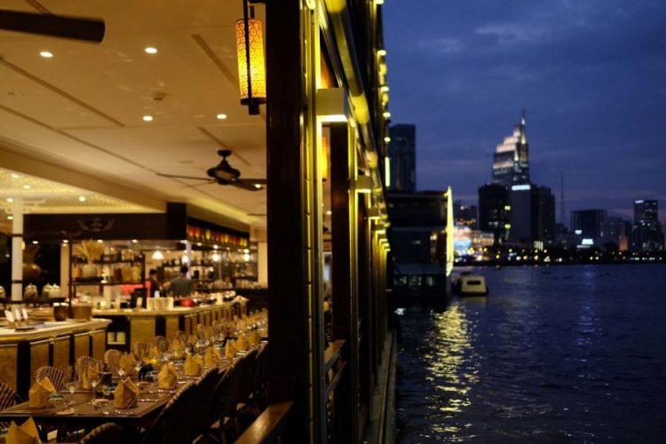dinner at bonsai river cruise in saigon