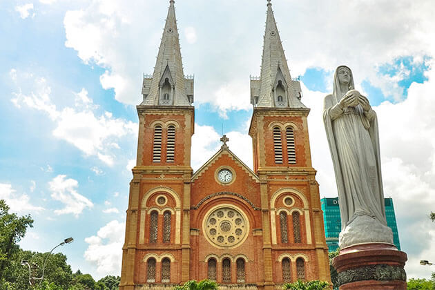 Notre Dame Cathedral in District 1 Saigon