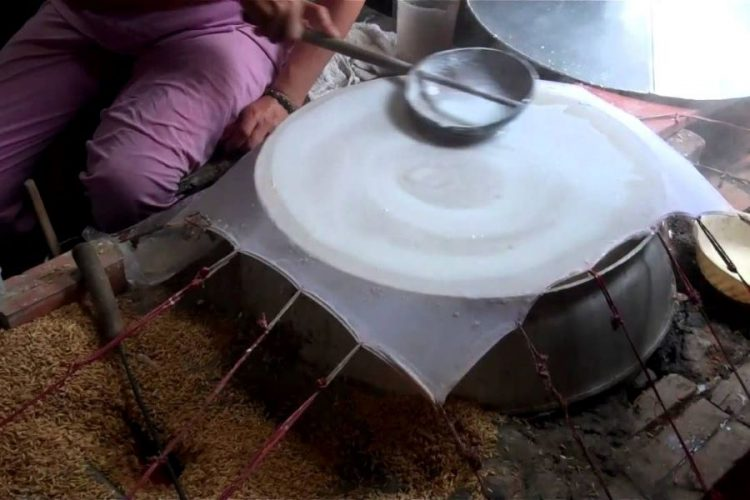 rice paper workshop in mekong delta