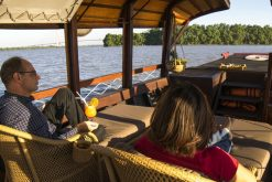 sampan ride in mekong delta