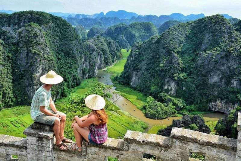 tam coc view from mountain local tours in vietnam