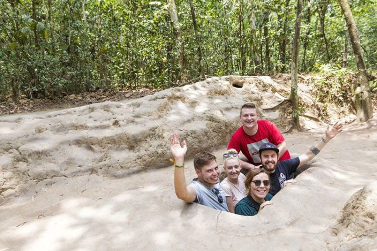 visit cu chi tunnels from day tours ho chi minh city